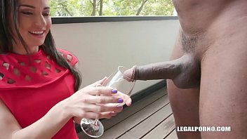 The young woman who drinks champagne and has anal sex with gifted black