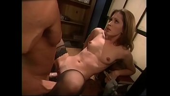 XVIDEOS Round booty nympho in black stockings Gwen Summers rides a massive cock on floor free