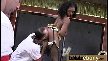 Interracial bukkake sex with black porn star 2
