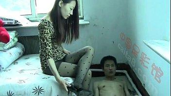 Chinese stocking worship n trample...