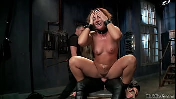 Brunette slave squirting on training exhib wife tube