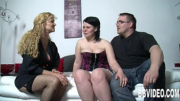 German wench in  high heels gets nailed in thr s nailed in threesome