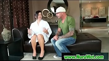 Sexy masseuse gives pleasure in nuru massage 13