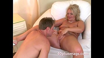 Plump blonde mature honey