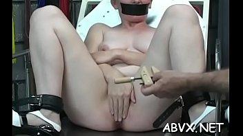 Tight slit extraordinary bondage in home xxx video seduction-porn extreme-bondage