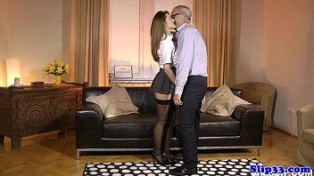Classy schoolgirl nailed by british geriatric