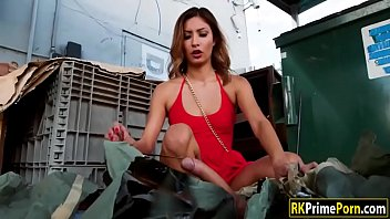 Jade Jantzen pounded by the dumpster