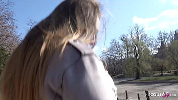 GERMAN SCOUT - 18yr YOUNG CURVY BIG TITS SCHOOLGIRL LUCIE PICKUP AND FUCK thumbnail