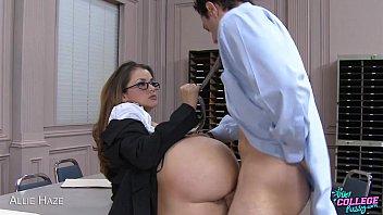 College cutie Allie Haze take cock