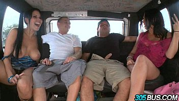 Rachel starr and kitty ride the bus