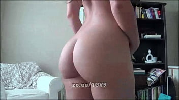 sexy girl with fat ass strips from panties and slaps herself for cam