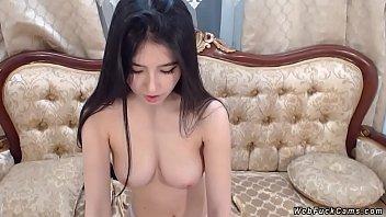 Petite Asian amateur has private webcam