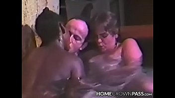 Promiscuous babe blows and rides cock in pool threeway