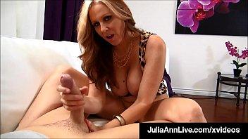Smoking Hot Cougar Julia Ann Sucks &amp_ Strokes POV Cock!