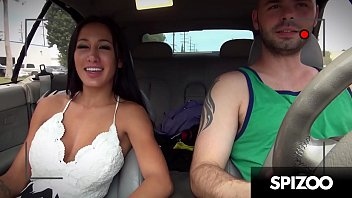 Busty Brunette Amia Miley takes a Huge Cock in her Sensual Mouth - Spizoo thumbnail