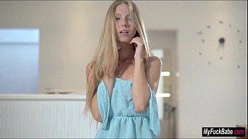 Blonde Euro babe Angelica masturbates and orgasms a lot