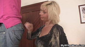 thumb Blonde Mother Inlaw Seduces Me Into Sex