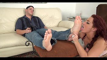 Girls licking feet