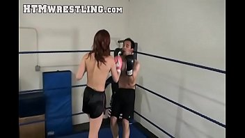 Sexy Sarah Brooke Boxing Beatdown
