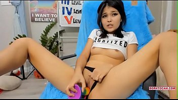 Cute Horny Small Asian Masturbating With Her Toys On Cam Part 1