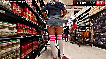 Streaming Video Flashing in the supermarket miniskirt,upskirt - XLXX.video