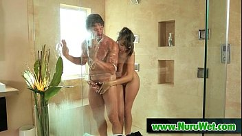 Sexy Masseuse Covered In Nuru Gel Gives Happy Ending 16