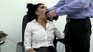 thumb the secretary f  irst fucks a big rubber dildo ig rubber dildo g rubber dildo a