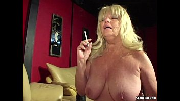 xxarxx Big titted smoking granny sucks hard cock