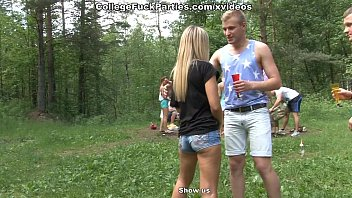 Filthy College Sluts Turn An Outdoor Party Into Wild Fuck Fest Scene 1
