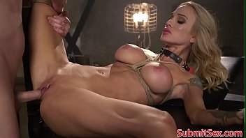 Streaming Video Inked blonde bondage sub doggystyled by dom - XLXX.video
