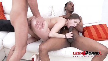 Evelina Darling in anal threesome with monster cocks & double penetration