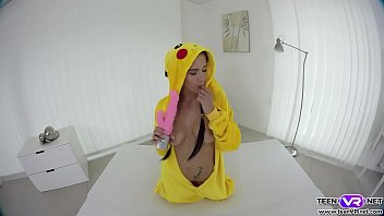 Sexy pokemon babe dildo fuck her pussy VR porn