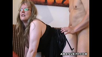Tall skinny blonde having sex