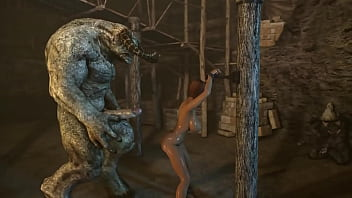 Kirin reverse cowgirl penetration sex monster hunter cartoon...