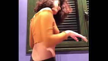 Young teen girl dancing