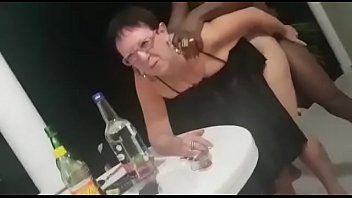 French granny get a surprised present for her grand daughter with big black Dick