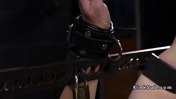 Hairy Pussy Slave Toyed In Bondage