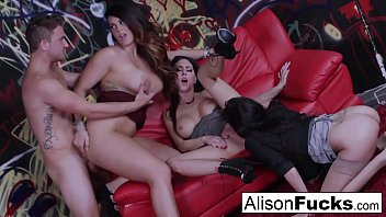 Alison Tyler goes wild in this amazing 4-way of fucking!