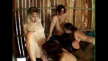 Enjoy this amazing lesbian orgy action