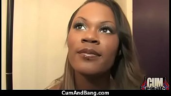 Ebony chick fucked hard in group sex action 20