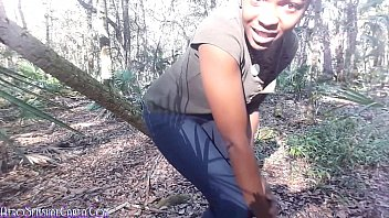 thumb Wild Girl Wooded Outdoors Squirting Masturbation