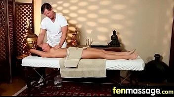 Gorgeous Skinny gets a massage 30