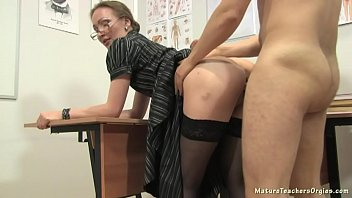 Russian mature  teacher 12 Elena anathomy less a anathomy lesson