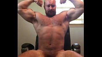 Beefy bodybuilder naked flexing in bedroom onlyfansbeefbeast alpha...