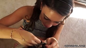 Step mom and companion'_ friend'_s daughter massage first time Seducing