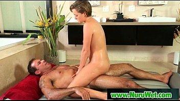 Japanese masseuse gives nuru massage to horny client 01