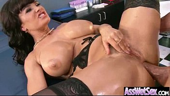 (lisa ann) Slut Girl With Big Wet Olied Butt Get Anal video-22