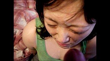 個人撮影 巨乳嫁の愛情溢れる献身的フェラに顔射で応える旦那 | 抜くなら無修正
