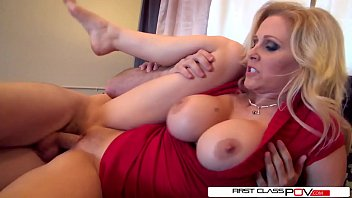 Julia's husband loves watching her getting pounded by other men