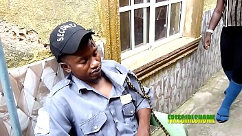 Security officer bang'_s His boss'_s Visitor (outdoor sex)